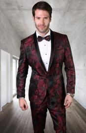 Burgundy Ultra Slim Fit Prom Suit or Wedding Suit