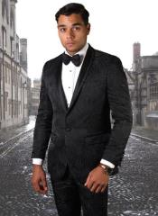 Black Ultra Slim Fit Prom Suit or Wedding Suit