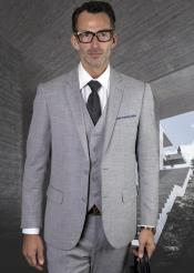 Grey Ultra Slim Fit Prom Suit or Wedding Suit