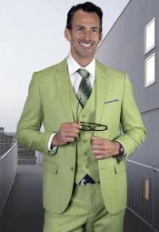 Pistachio Ultra Slim Fit Prom Suit