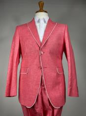 Pink Mens Colorful Summer Linen Suit