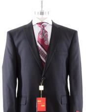 Mantoni Solid Black Suit