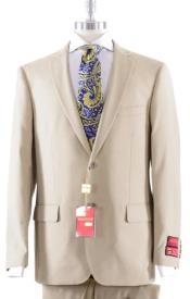 Mantoni Solid Khaki Suit