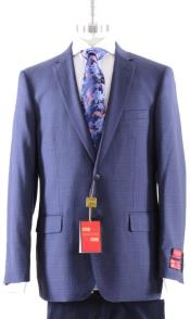 Mantoni Blue Plaid Suit
