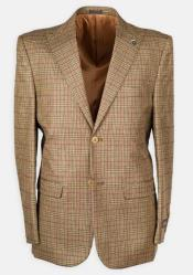 Pc Peak Lapel Plaid w/ DB Cross Suede Vest