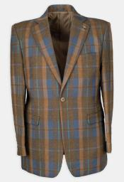 3 Pc Notch Lapel Plaid Affordable