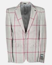 Lapel Windowpane Affordable Cheap Priced Mens Dress Suit For