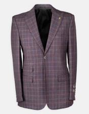 Wine Peak Lapel Dress Suit For Sale