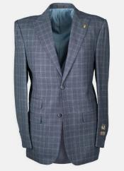 Peak Lapel Windowpane w/ Scoop Vest