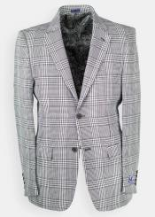 Glen Plaid - Windowpane houndstooth Blazer