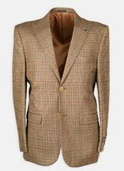 Lapel Plaid w/ DB Cross Suede Vest Affordable Cheap