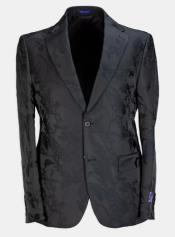 - Floral Suit (Jacket and Pants) Black - Mens