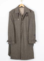 Breasted Wool Blend Overcoat