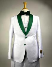 Mens Tuxedo Suits White and Olive