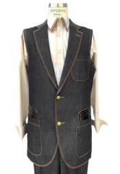 Sleeveless Suit Denim Suit Vest and Pants Set Combination