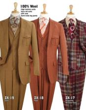 Safari Suit With Patch Pocket Military Style Wool Fabric