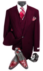 Burgundy Steve Harvery Style  Old Fashion - Traditional