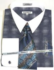 Blue Colorful Mens Dress Shirt