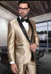 Champagne Color Wedding Suit - Summer Color