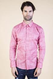 - Chambray Shirt (Red)