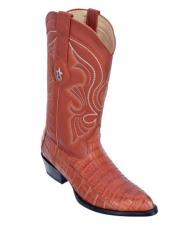 Los Altos Boots Caiman Belly Cognac