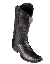 Los Altos Boots Mens Ostrich Black