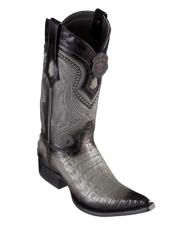 Los Altos Boots Caiman Belly Faded