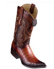 Los Altos Boots Caiman Belly Faded
