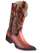 Los Altos Boots Ostrich Faded Cognac
