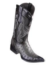 Los Altos Boots Ostrich Faded Grey