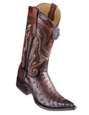 Los Altos Boots Ostrich Faded Brown