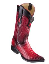 Los Altos Boots Caiman Tail Red