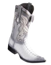 Los Altos Boots Caiman Tail White