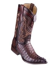 Los Altos Boots Caiman Tail Faded
