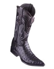 Los Altos Boots Caiman Tail Black