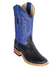 Los Altos Boots Smooth Ostrich Square