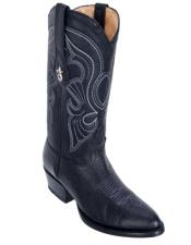 Altos Mens Bull Shoulder Black R-Toe Cowboy Boots