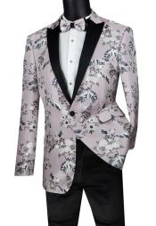 Suit Single Breasted 1 Button Sport Coat Pink Color