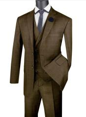 Mens Single Breasted 2 Button Suit With Notch Collar
