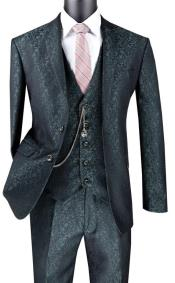 Floral Suit Pine - Mens Flower Suit