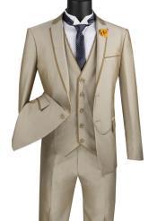 Tan Tuxedo - Champaign - Khaki Color Suit Taupe