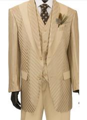 Tan Tuxedo - Champaign - Khaki Color Suit Almond