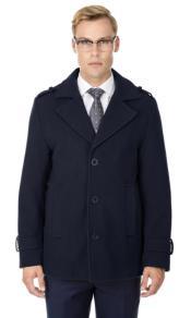 Short Length Coat Wool Fabric - Short Designer Mens