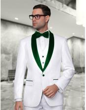 GreenWeddingSuitWhiteandGreenLapelSuit-Tuxedo