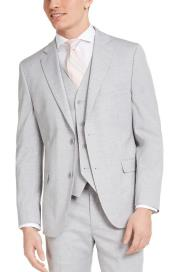 Slim Fit 2 Button Light Grey