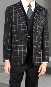 Boys 3 Piece Suit - Black