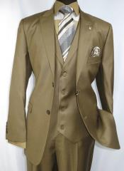 Falcone Mens Light Brown Style Suit