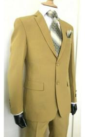 Camel - Khaki 2 Button Suits
