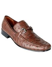 Mens Genuine Ostrich Slip On By