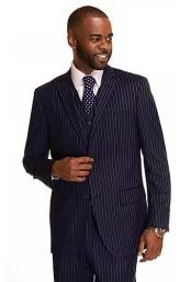 Navy Rust Checkered Patterned Window Pane Suit